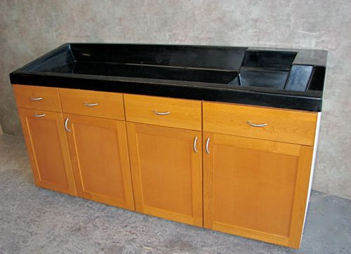 fire-retardant laboratory-grade counters and integral sinks on the market